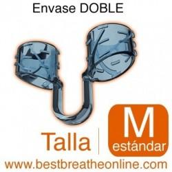 Dilatador Nasal Best Breathe® Talla M, antironquidos y para aumentar rendimiento deportivo, envase doble