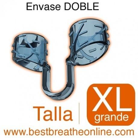 Dilatador Nasal Best Breathe® Talla XL, antironquidos y para aumentar rendimiento deportivo, envase doble
