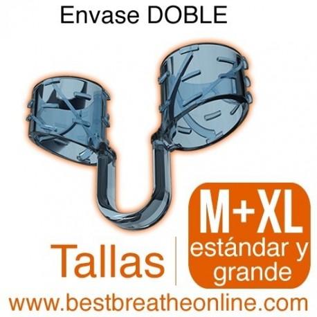 Dilatador Nasal Best Breathe® Tallas M + XL, antironquidos y para aumentar rendimiento deportivo, envase mixto