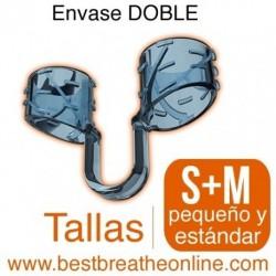 Dilatador Nasal Best Breathe® Tallas S + M, antironquidos y para aumentar rendimiento deportivo, envase mixto