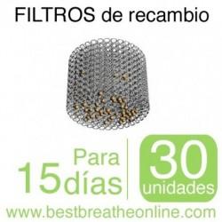 30 Filtros de recambio talla única para el sistema de Filtros Nasales Best Breathe®